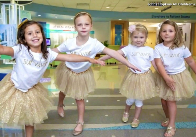 Chloe, Lauren, McKinley e Avalynn - Foto: Johns Hopkins Hospital